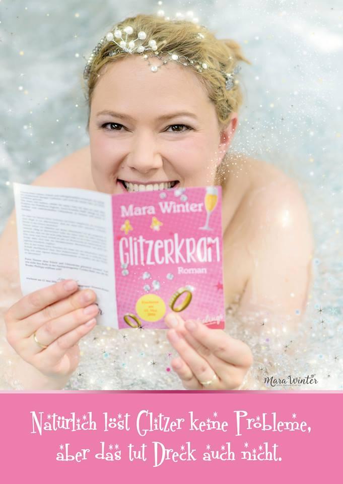 Glitzerkram-Postkarte